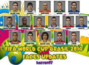 FIFA 14 WORLD CUP BRAZIL 2014 FACES UPDATES by karron97