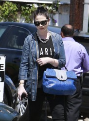 Michelle Trachtenberg - Leaving a salon in West Hollywood 6/5/14