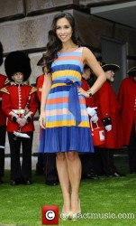 Myleene Klass in multicolor dress @ The opening of the 2012 Ideal Home Show at Earls Court 3/16/12