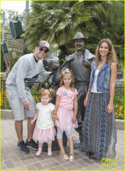 Jessica Alba - At Disneyland in Anaheim 6/9/14