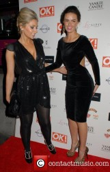 Gemma Merna And Jennifer Metcalfe at OK! Magazine Christmas Party In London