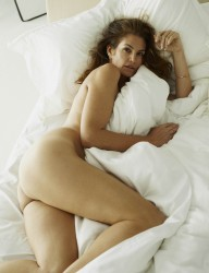 Cindy Crawford Naked on a Bed - W Magazine Photoshoot