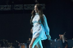 Lana Del Rey sexy as hell in very short blue dress at Rockwave 2013  8/7/13