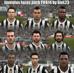 Juventus Faces Pack FIFA14 by SieL23