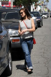 Minka Kelly - Shopping for furniture in LA 6/16/14