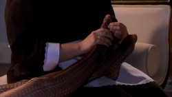Leighton Meester gets a foot massage in pantyhose from Gossip Girl