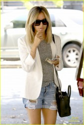 Ashley Tisdale - Leaving Nine Zero One Salon in West Hollywood 6/17/14