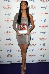 Alesha Dixon leggy in silver dress at the Visit London awards  12/8/10