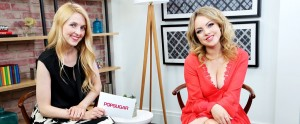 Elizabeth Gillies on the set of a PopSugar Interview - June 12, 2014