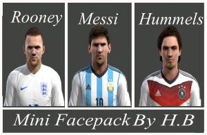 Download Mini Facepack Pes 2013 By H.B