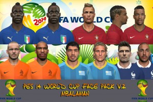 Download Pes 14 World Cup Face Pack v2 by MBalaman