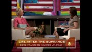 Edie Falco and Erica Hill - August 22, 2009