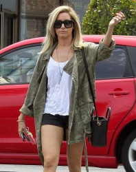 Ashley Tisdale - Going to a nail salon in Studio City 6/26/14