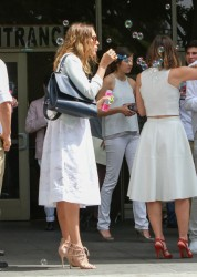 Jessica Alba - Attending a wedding in Beverly Hills 6/27/14