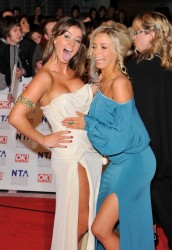 Brooke Vincent and Sacha Parkinson leggy at the National Television Awards at the O2 Arena 1/26/11