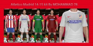 Download PES 2014 ATLETICO MADRID 14-15 KITS by MOHAMMAD 78