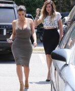 Kim & Khloe Kardashian - Visiting their Dash store in Southampton, NY 7/2/14