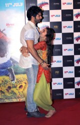 Alia Bhatt looking cute and exposing her underwear in a translucent Punjabi suit at the  trailer launch of �Humpty Sharma Ki Dulhania� 5/27/14