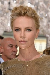 Charlize Theron - Christian Dior Haute Couture F/W 2014/2015 Fashion Show in Paris 7/7/14