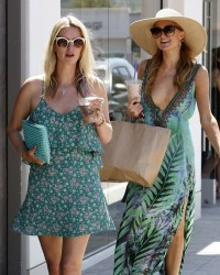 Paris & Nicky Hilton - Shopping in Malibu 7/7/14