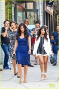 Kim, Khloe & Kourtney Kardashian - Promoting their 'Kardashian Kollection' in NYC 7/7/14