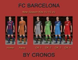 Download FC Barcelona 14-15 Kits v4 by cRoNoS