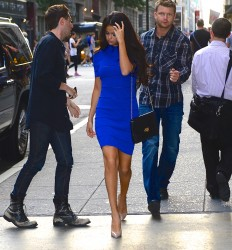 Selena Gomez Out in New York on July 8, 2014