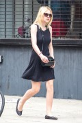 Dakota Fanning - out for a stroll in NYC July 10th 2014 (pokies) 11 HQ pics