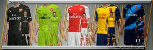 Download Arsenal Kits 2014-15 by Alepes For PES 2014