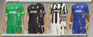 Download Juventus FC 2014/15 Kits For PES 2014 by Alepes