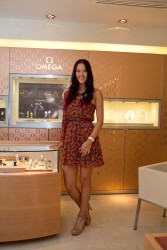 Michelle Wie visits the newly opened OMEGA Boutique in Guadalajara 11/07/11