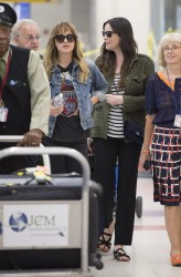 Liv Tyler and Dakota Johnson at JFK Airport 07-22-2014