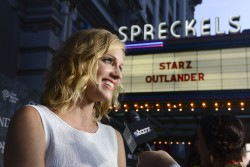 Tricia Helfer 'Outlander' Premiere at Comic Con in San Diego 07-25-2014