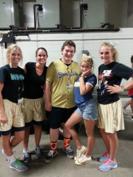 Emily Osment at the Brewers vs. Mets Game in Milwaukee on July 26, 2014