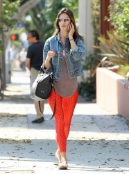 Alessandra Ambrosio - Going to pilates class in Santa Monica 7/29/14