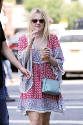 Dakota Fanning out in NYC 07-25-2014