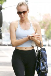 Diane Kruger In tights, leaving a Pilates studio in West Hollywood 07-28-2014