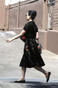 2c0f6c342187481 Dita Von Teese grabs breakfast at Stamp restaurant (July 30, 2014) candids