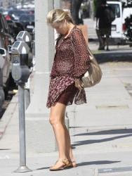 Ali Larter - Going to a nail salon in LA 7/31/14