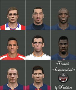 Download PES 2014 Facepack International vol.9 by Tunizizou