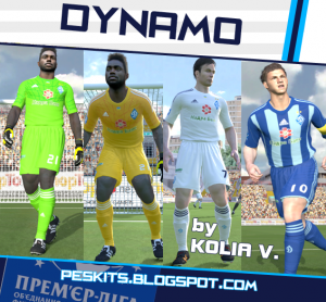 Download PES 2014 FC Dynamo Moscow 14-15 Kits by Kolia V.