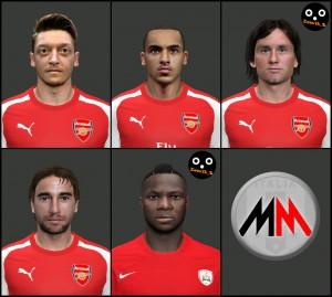 Download PES 2014 Arsenal Facepack by MarioMilan