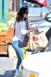 Minka Kelly out shopping at Whole Foods in LA 08-04-2014