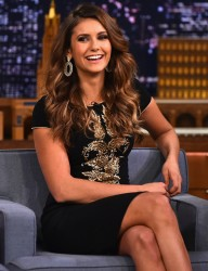 Nina Dobrev - 'Tonight Show starring Jimmy Fallon' in NYC 8/5/14