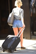 Julianne Hough in shorts arriving at her hotel in New York 08/05/14