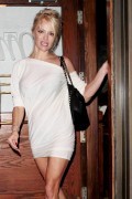 Pamela Anderson Wears a see through outfit in Los Angeles August 10-2014 x23