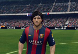 Sergi Roberto Face FIFA 14 by Wichanwoo