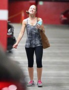 Mandy Moore & Minka Kelly - Leaving SoulCycle in West Hollywood 8/18/14