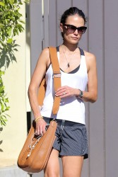 Jordana Brewster Leaving the gym in West Hollywood 08-15-2014