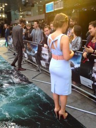 Tanya Burr nice ass in tight dress at the U.K. premiere of 'Noah' held at the Odeon Leicester Square 3/31/14
